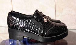 Женские туфли на толстой подошве Black 36р.