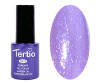 Гель лак Tertio 170, фиолетово сиреневый с блестками, 10мл