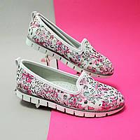 Детские туфли балетки Цветы для девочки Tom.m размер 32,33,34,35,36,37