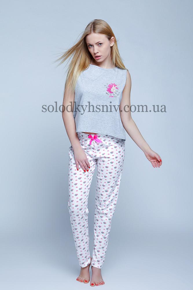 Піжама Sensis Єдиноріг (Unicorn) жіноча штани+футболка  0893bb4de0a95