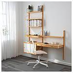 IKEA SVALNAS Настенный стеллаж, бамбук, белый  (691.844.50), фото 2