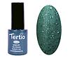 Гель лак Tertio 178, зеленый с блестками, 10мл