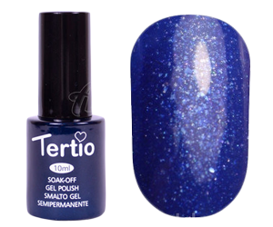Гель лак Tertio 181, синий с блестками, 10мл