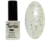 Гель лак Tertio 183, белая ночь с блестками, 10мл