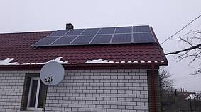 Новоград-Волынский солнечная электростанция автономная 3 кВт + 5 кВт резерв Axioma, Житомирская обл.