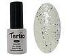 Гель лак Tertio 184, серебристые блестки, 10мл