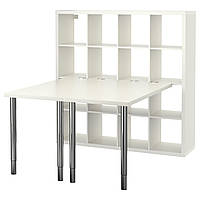IKEA KALLAX Рабочий стол, белый  (390.465.54)