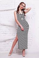 Платье-майка в полоску удлиненное
