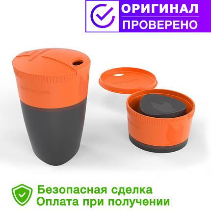 Складной стакан 260мл с крышкой LIGHT MY FIRE Pack-up-Cup Orange 42393610, фото 2