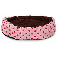 Мягкая моющаяся лежанка в крапинку для котов и собак с отстегивающейся подушкой