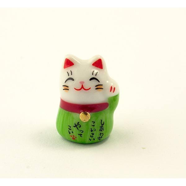 Манеки-неко «Кіт удачі» зелений
