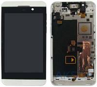 Дисплей для BlackBerry Z10 pictures + frame black orig (Бесплатная доставка до дверей)