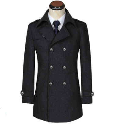 Мужское теплое пальто. Модель 61787