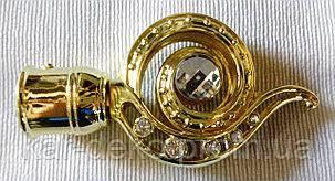 фото Черный карниз для штор  золото kar-deko.com