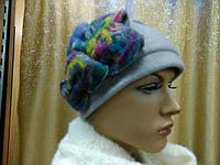 Шляпы RABIONEK из мягкой шерсти без отворота р-р 56-57, цвет серый с синим