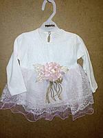 Платье белое нарядное для девочки размер 6-18 месяцев  Турция