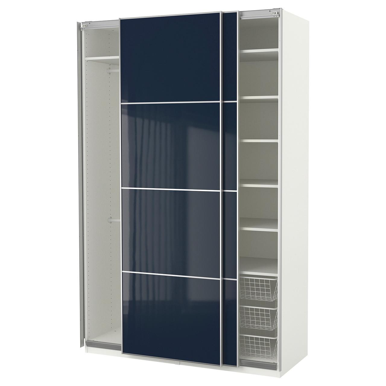 "ИКЕА ""ПАКС"", Гардероб, белый, с синим оттенком, 150x66x236 см"