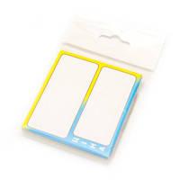 """Ценники ламинированные 02-16-05 желто-голубой 65х60мм (25шт) """"цена"""""""