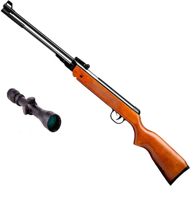 Пневматическая винтовка SPA WF600 с усиленной газовой пружиной 3-9х32 Sniper AR