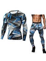 Мужской камуфляжный плотный тренировочный костюм спортивные костюмы M