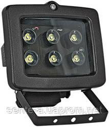Прожектор світлодіодний e.light.LED.150.6.6.2700.black 6Вт чорний