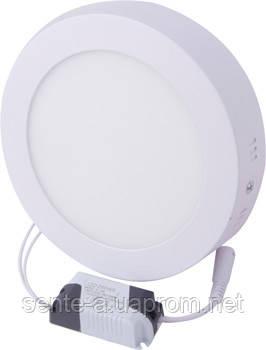 Светильник светодиодний накладной e.LED.MP.Round.S.12.4500. круг, 12Вт, 4500К, 840Лм
