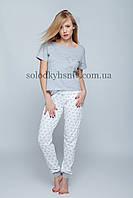 Піжама Sensis Сердечка (Hearts) жіноча штани+футболка