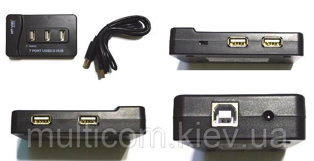 02-03-005. USB HUB (ver.2.0) на 7 портов, с кабелем