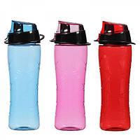 Бутылка спортивная Herevin пластик. 0,65 л в ассортименте