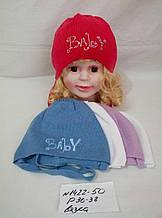 Детская шапка для девочки Вязка р. 36-38