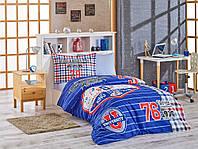 Комплект постельного белья  Hobby поплин размер полуторный College синий