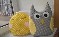 Игрушки подушки - Солнышко и Совушка, фото 1