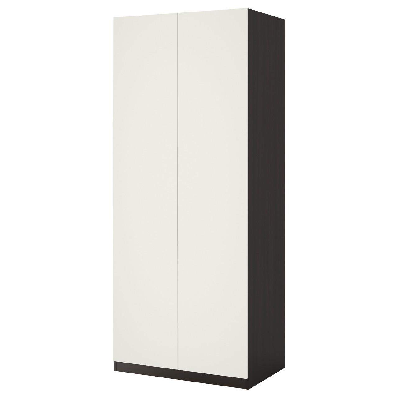 """ИКЕА """"ПАКС"""",Гардероб, черно-коричневый, белый, 100x60x201 см"""