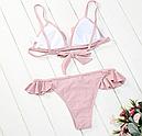 Купальник с оборками (бледно-розовый), фото 4