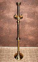 Подсвечник церковный на 6 свечей из латуни