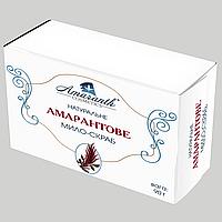 Мыло-скраб с амарантовым маслом, содержит сквален, 90 гр, ручной работы
