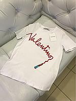 Футболка Valentino с фирменной надписью