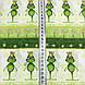 Хлопковая ткань польская зеленые лягушки с коронами №136, фото 2
