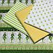 Хлопковая ткань польская зеленые лягушки с коронами №136, фото 3