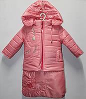 Детский комбинезон курточка и штаны  Флиз Тройка рост 74-86