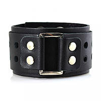 Мужской кожаный браслет в стиле Панк-рок Scappa B-206 чёрный