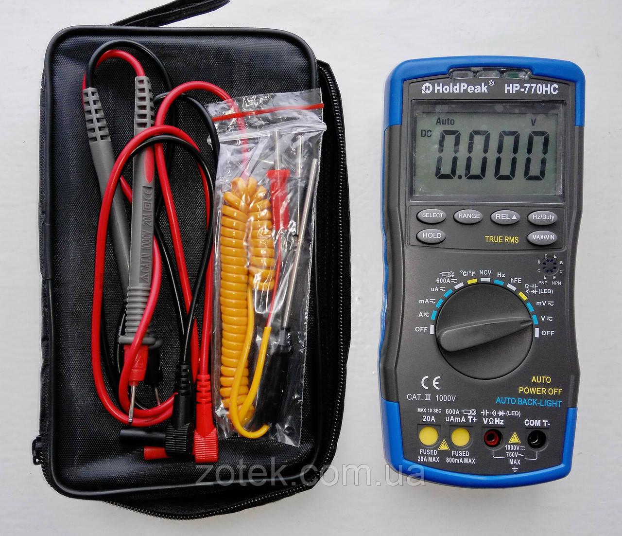 Мультиметр HoldPeak HP-770HC ( HP-890CN ) тестер