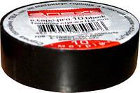 Изолента e.tape.pro.10.black из самозатухающего ПВХ, черная (10м)