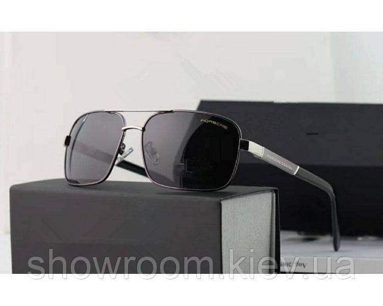 Солнцезащитные очки в стиле Porsche Design c поляризацией (p-8766) silver