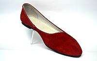 """Женская обувь больших размеров балетки замшевые Gracia BS Red by Rosso Avangard цвет красный """"Сольферино"""""""