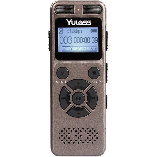 Диктофон с датчиком звука и батареей на 72 ч. работы