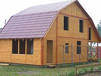 Деревянный дом 10х8 профиль без комуникаций
