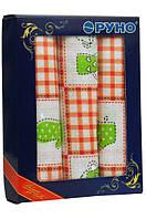 Набор полотенец для кухни Руно Клетка красная 45*80 см 3шт арт.707Т