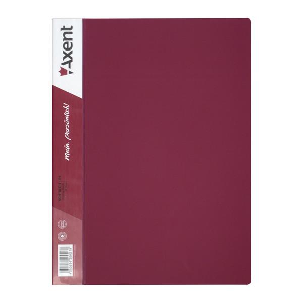 Дисплей-книга Axent 10 файлов, бордовая  1010-04-A