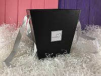"Черная коробка для цветов ""Flowers"""